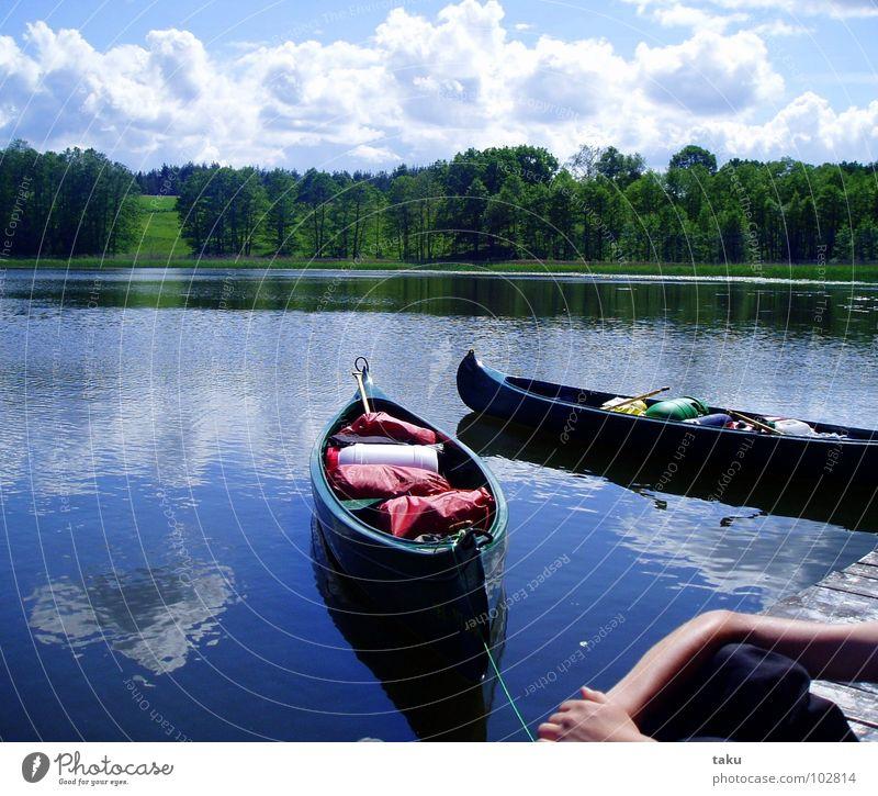 SILENT WATER Natur Wasser schön ruhig Wolken Wald Freiheit träumen Pause natürlich Gelassenheit Konzentration Steg Kanu Polen Kanusport