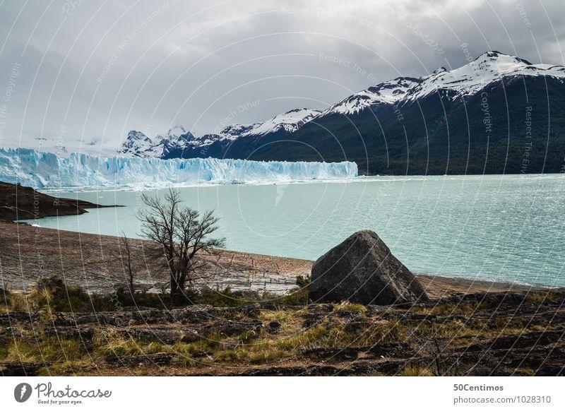 Perito Moreno Gletscher in Patagonien - Argentinien Natur Ferien & Urlaub & Reisen Erholung Landschaft ruhig Ferne kalt Berge u. Gebirge Umwelt Leben Küste Zeit