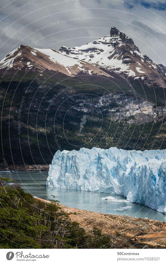 Gletscher Perito Moreno in Patagonien von Argentinien Natur Ferien & Urlaub & Reisen Erholung Landschaft Wolken Ferne Wald Berge u. Gebirge Umwelt Wiese Küste