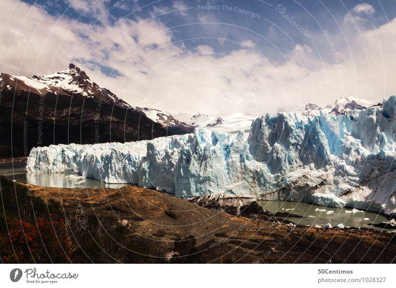 Gletscher Perito Moreno in Patagonien von Argentinien Natur Ferien & Urlaub & Reisen Einsamkeit Landschaft ruhig Ferne Reisefotografie Berge u. Gebirge Umwelt