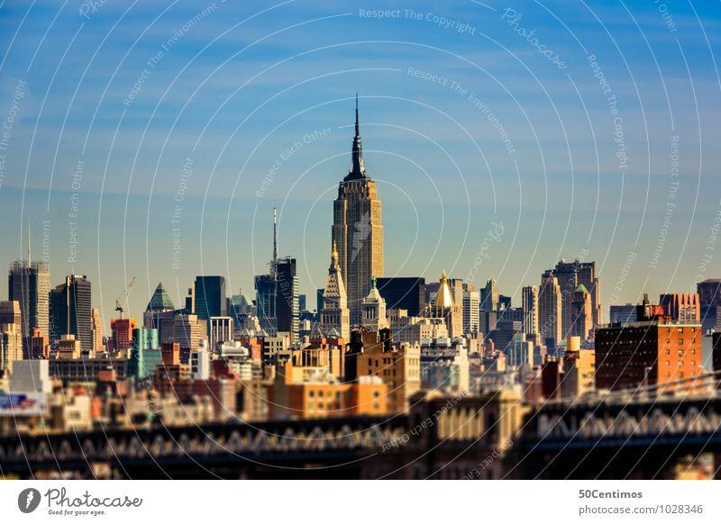 tilt - shift - skyline of new york Lifestyle Reichtum elegant New York City Manhattan Stadt Skyline Haus Hochhaus Business chaotisch Ferien & Urlaub & Reisen