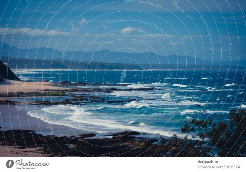 Lookout Ferien & Urlaub & Reisen blau schön Wasser Sommer Erholung Meer Landschaft Freude Strand Berge u. Gebirge Küste außergewöhnlich Stein fantastisch