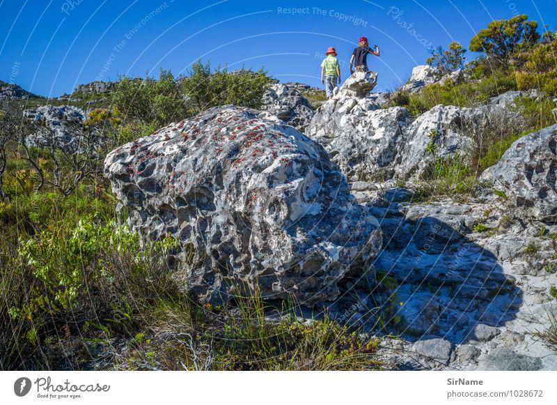 353 Mensch Kind Natur Pflanze Sommer Ferne Berge u. Gebirge Leben Junge Wege & Pfade Freiheit Felsen Zusammensein Freundschaft Kindheit wandern