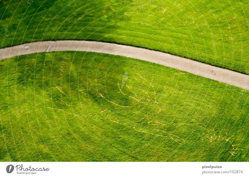 hasenfußweg Wiese Hase & Kaninchen grün Asphalt Igel schwingen Gras Park Garten Kunst Kultur Rasen Wege & Pfade Bürgersteig Schatten versteckte zeichen Spuren