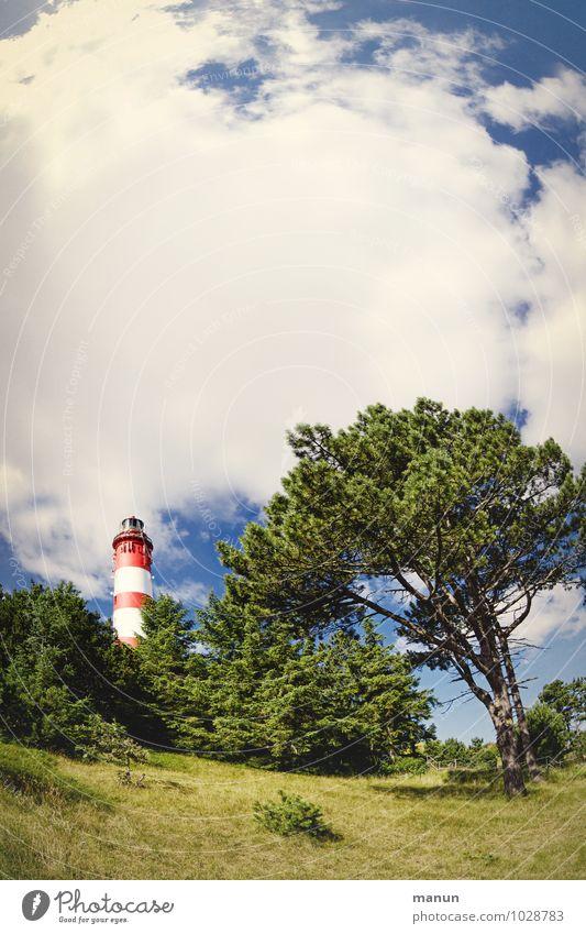 Nordlicht Natur Ferien & Urlaub & Reisen Landschaft Architektur Deutschland authentisch Insel Fernweh Wahrzeichen Nordsee Sehenswürdigkeit Leuchtturm Heimat