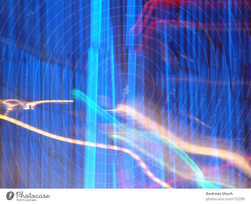 Style? Stil Licht Nacht Fototechnik blau Linie Farbe Reaktionen u. Effekte
