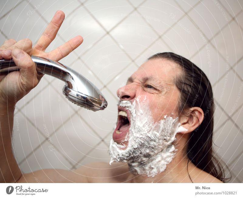 the voice of austria Mann nackt Erwachsene Gesicht Haare & Frisuren Kopf maskulin Haut Finger Bad Körperpflege Fliesen u. Kacheln Gesichtsausdruck langhaarig