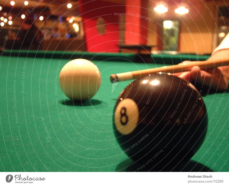 Pool2 grün Spielen Perspektive Schwimmbad Ziffern & Zahlen Kugel Stock Billard stoßen Fototechnik