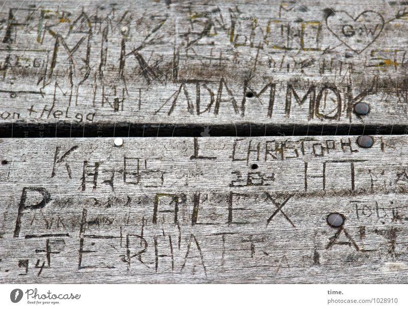 selbstgemacht | erstmal für ewig Leben Graffiti Holz Zeit Zusammensein wild Dekoration & Verzierung authentisch Schriftzeichen verrückt Lebensfreude Vergänglichkeit kaputt Zeichen Ewigkeit Kitsch