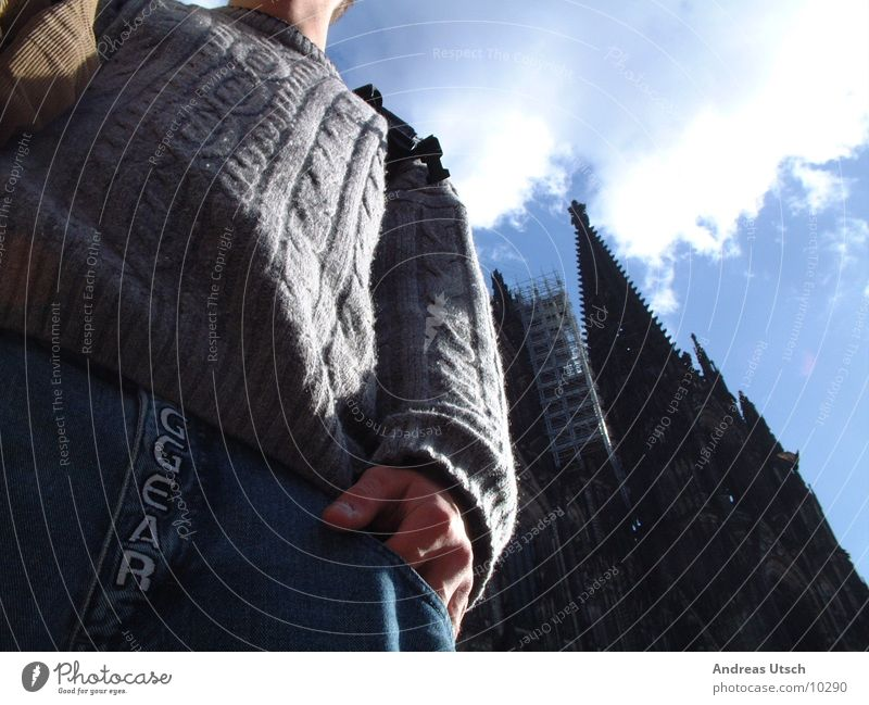 kölner dom Stil Froschperspektive Seil Fototechnik Perspektive Dom alt Baustelle