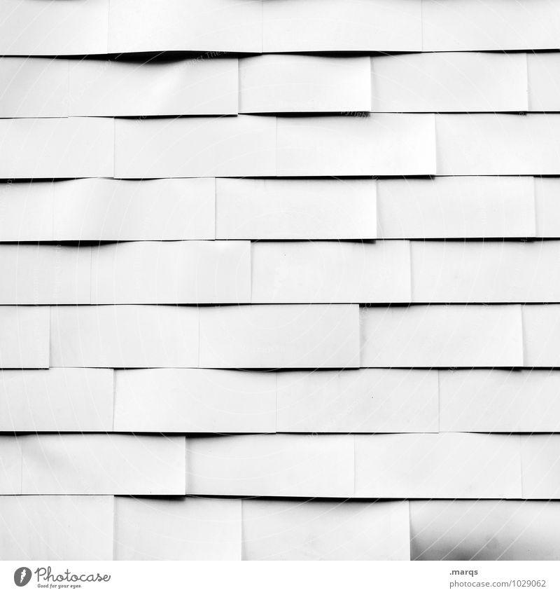 Weiß wie ne Wand weiß Linie hell Fassade Ordnung einfach