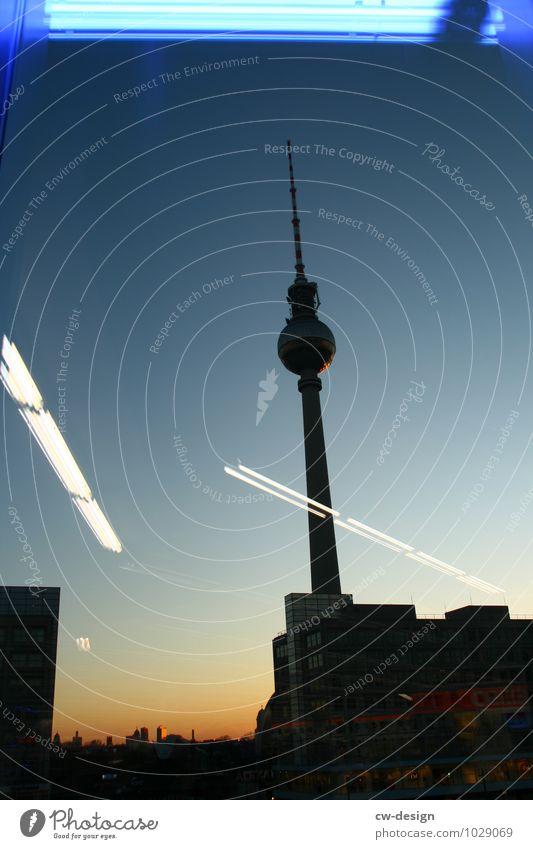Berlin Nacht & Tag Ferien & Urlaub & Reisen Stadt schwarz Umwelt Architektur Gebäude Deutschland Fassade Hochhaus ästhetisch Platz retro Turm historisch Bauwerk