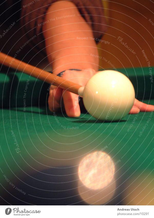 pool Schwimmbad Billard Spielen Unschärfe grün Stock Ziffern & Zahlen Fototechnik Kugel Perspektive stoßen