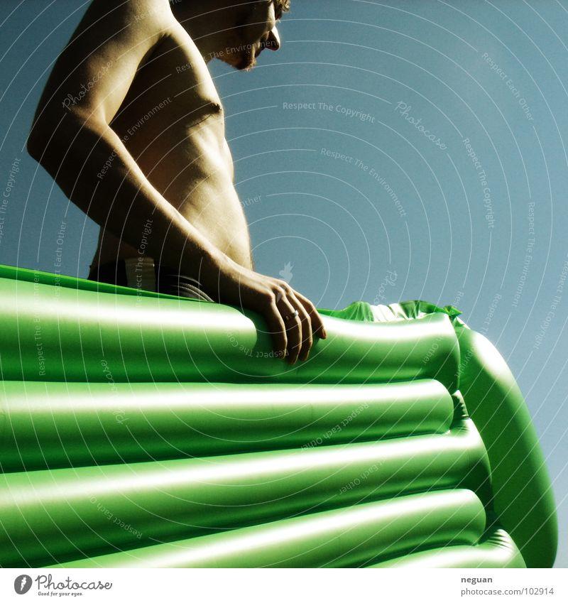 ab in den sommer Himmel grün Sommer Freude Wärme See Schwimmen & Baden Physik Typ