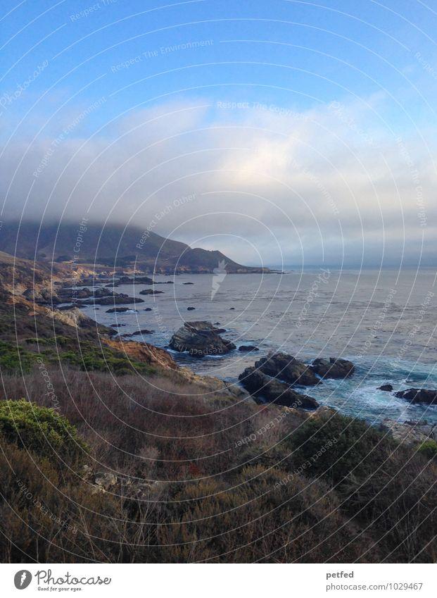Pacific Coast Highway Himmel Ferien & Urlaub & Reisen blau Wasser Sommer Erholung Meer Landschaft ruhig Wolken Ferne Küste außergewöhnlich Idylle wild Tourismus