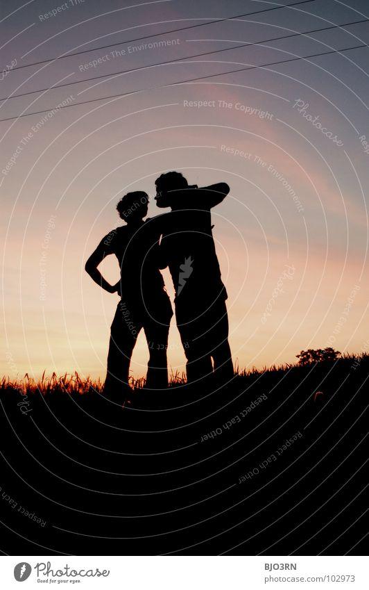 ...die sind schön Mensch Natur Himmel rot Sommer Freude schwarz Wolken Farbe dunkel Gefühle Freundschaft Stimmung Horizont Lifestyle Romantik