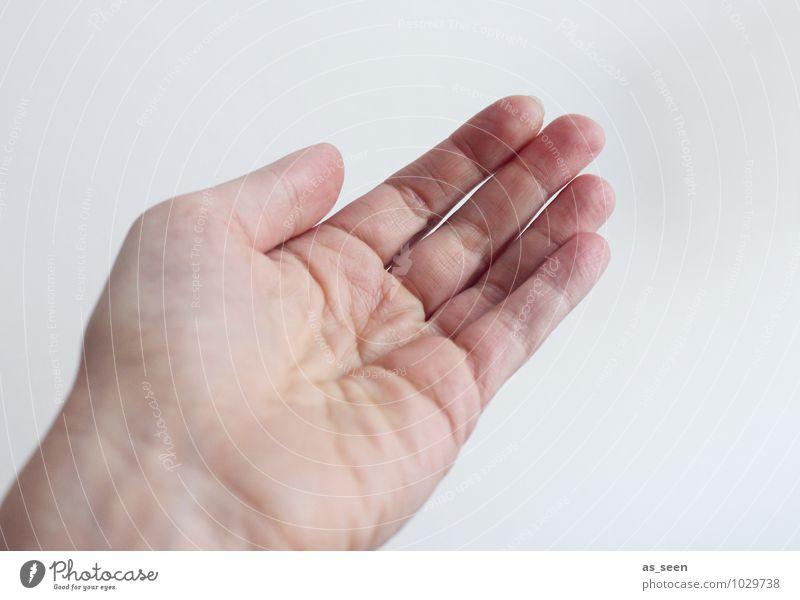 Gib mir die Hand Leben Finger 18-30 Jahre Jugendliche Erwachsene 30-45 Jahre berühren authentisch einfach Freundlichkeit Gefühle Tugend Vertrauen Sicherheit