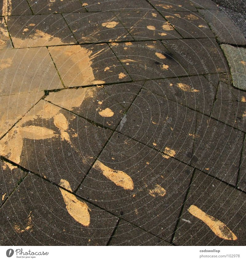 8.5 | 8 | 42 | 265 Fußspur Missgeschick Bürgersteig Bordsteinkante schreiten Mischung Magnoliengewächse klecksen obskur Verkehr Detailaufnahme paint accident