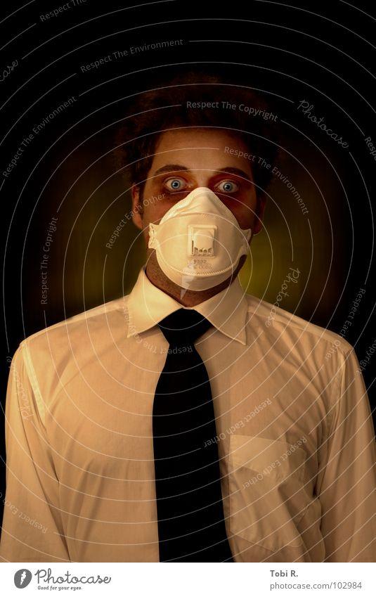 ante mortem Mensch Mann Erwachsene Auge Tod Kopf Angst verrückt bedrohlich 18-30 Jahre Maske gruselig Krankheit Wut Gewalt Schmerz
