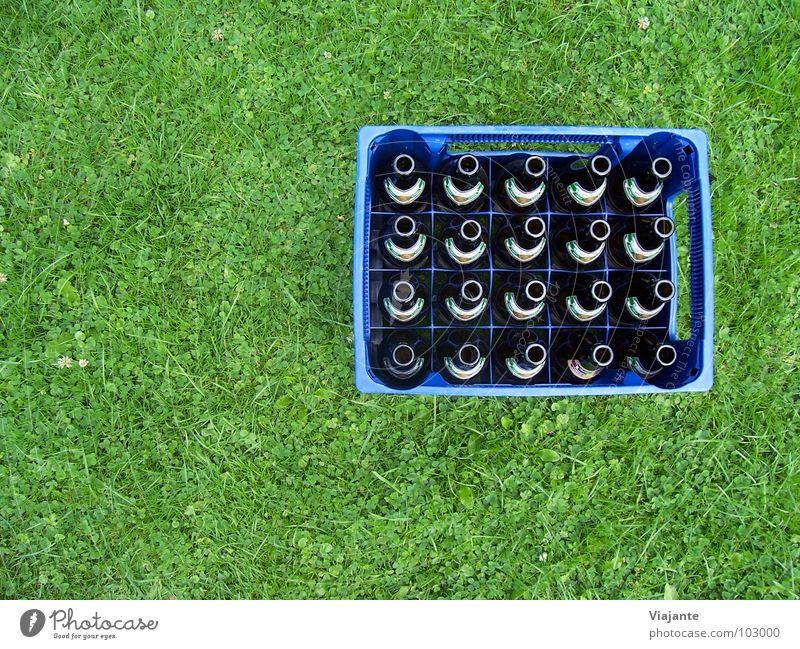 20 leere Hälse - reloaded. Natur blau grün Wiese Gras Garten Feste & Feiern Park Getränk Rasen Niveau Gastronomie Bier Erfrischung Flasche Alkohol