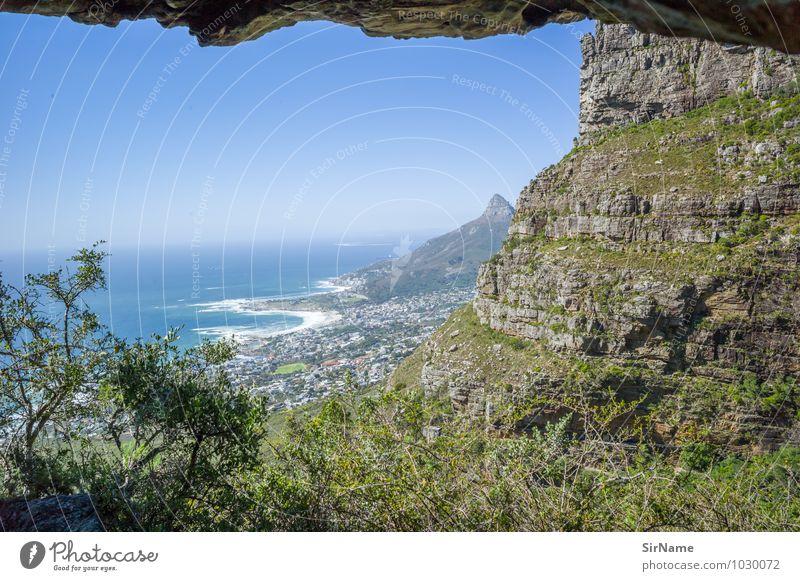 317 Ferien & Urlaub & Reisen Ausflug Ferne Freiheit Sommer Meer Berge u. Gebirge Landschaft Wolkenloser Himmel Felsen Küste Seeufer Bucht Kapstadt Südafrika