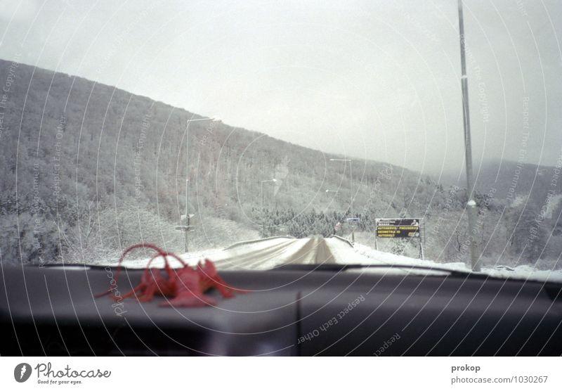 Hummer in Schneeland Ferien & Urlaub & Reisen Winter Ferne Wald Berge u. Gebirge Straße Lifestyle Eis PKW Tourismus Verkehr gefährlich Ausflug Frost fahren
