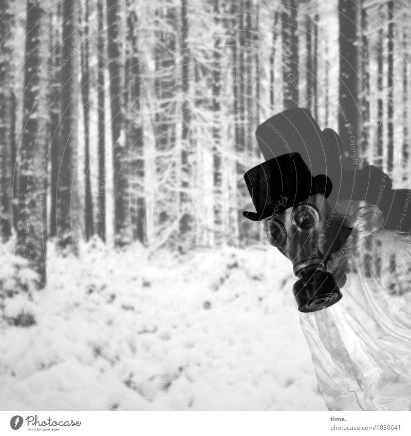Heimatfilm Mensch Winter Wald Schnee Wege & Pfade maskulin Angst Tourismus Perspektive verrückt beobachten Idee Neugier entdecken Mut Irritation