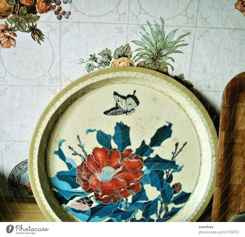 .. ohne worte Blume Pflanze Wand Kochen & Garen & Backen Küche rund Fliesen u. Kacheln Tapete Haushalt geschmackvoll Frucht kredenzen Tablett Ananas
