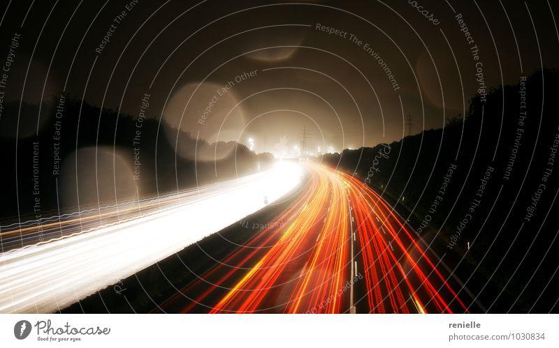 Ferien & Urlaub & Reisen Stadt rot gelb Business orange modern Erfolg Geschwindigkeit Zukunft Macht fahren entdecken Verkehrswege Autobahn Autofahren