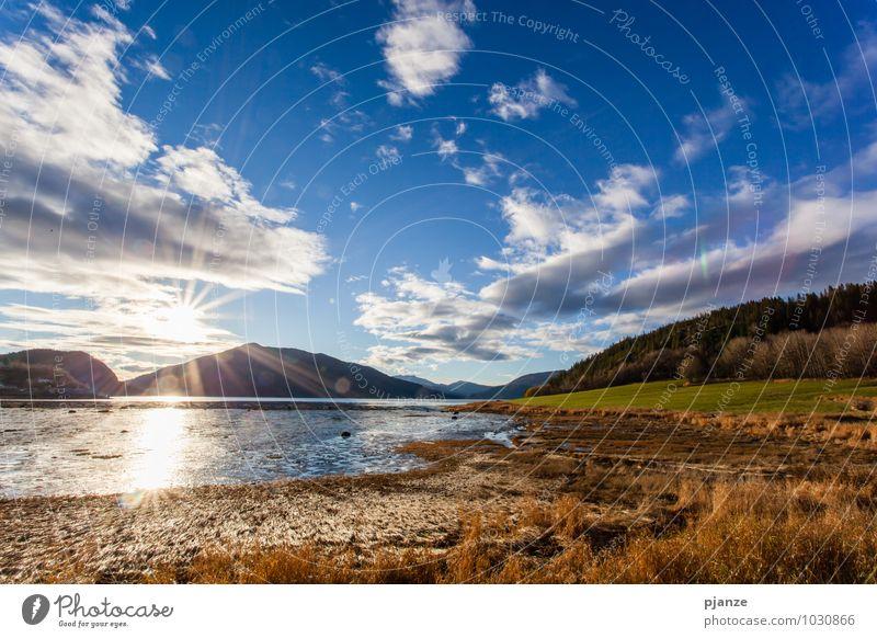 Summerfeeling Himmel Natur Ferien & Urlaub & Reisen Pflanze Sommer Wasser Sonne Landschaft Wolken Ferne Wald Berge u. Gebirge Herbst Gras Küste Freiheit
