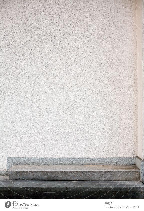 ne Wand für C/L Menschenleer Mauer Treppe Fassade Putzfassade Steintreppe Freiraum Strukturen & Formen Beton grau Stadt Farbfoto Gedeckte Farben Außenaufnahme