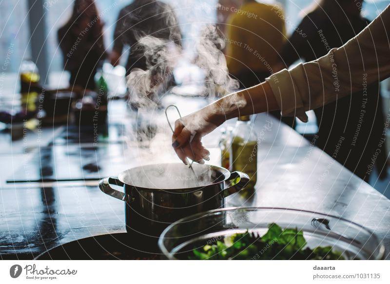 Prozesse Lebensmittel Gemüse Salat Salatbeilage Kräuter & Gewürze Öl Ernährung Mittagessen Abendessen Teller Schalen & Schüsseln Topf Löffel Lifestyle elegant