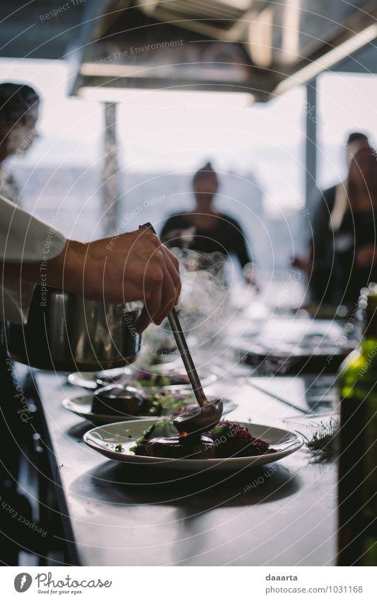 Erholung Freude Leben Stil Gesundheit Stimmung Lebensmittel Lifestyle Business Freizeit & Hobby elegant modern Tisch einfach Küche Gemüse