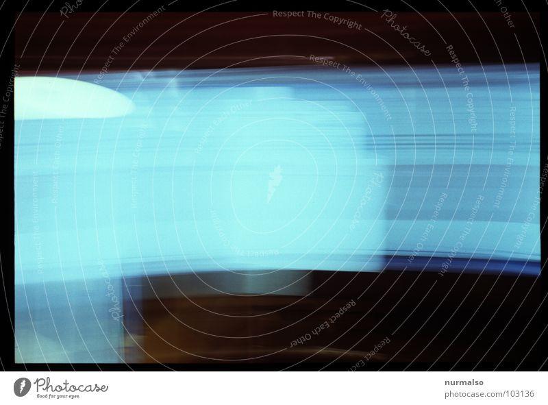 zini III blau Bewegung Fernsehen Punkt Bildschirm Achtziger Jahre schleichen ZDF