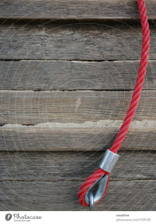 Roter Faden Befestigung Holz verankern Spielplatz Spielen rot Kinderzimmer Seil Feste & Feiern Nähgarn Holzbrett Sand