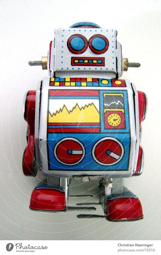 * r1 Spielzeug mehrfarbig Roboter Technik & Technologie Spielen retro Werbung analog digital Fototechnik