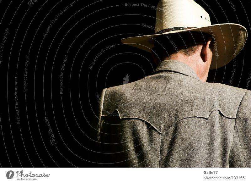 Lonely Stranger Mensch Mann Einsamkeit Hut fremd einzeln Cowboy abgesondert