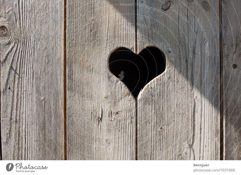 Heisldir Valentinstag Hütte Holz Herz alt Liebe einfach niedlich braun schwarz Romantik Holztür WC Hintergrundbild Tür altehrwürdig Loch Klotür bayerisch