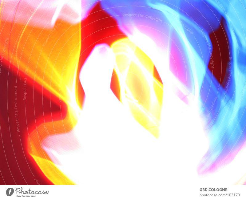 xRay_01 Lichtspiel mehrfarbig verwaschen Langzeitbelichtung Köln bunte Lichter leuchtende Farben Surrealismus Unschärfe Farbspektrum
