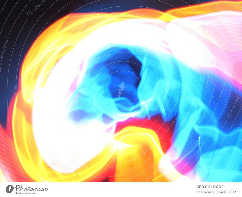 xRay_02 Lichtspiel mehrfarbig verwaschen Langzeitbelichtung Farbe Köln bunte Lichter leuchtende Farben Surrealismus Unschärfe Farbspektrum