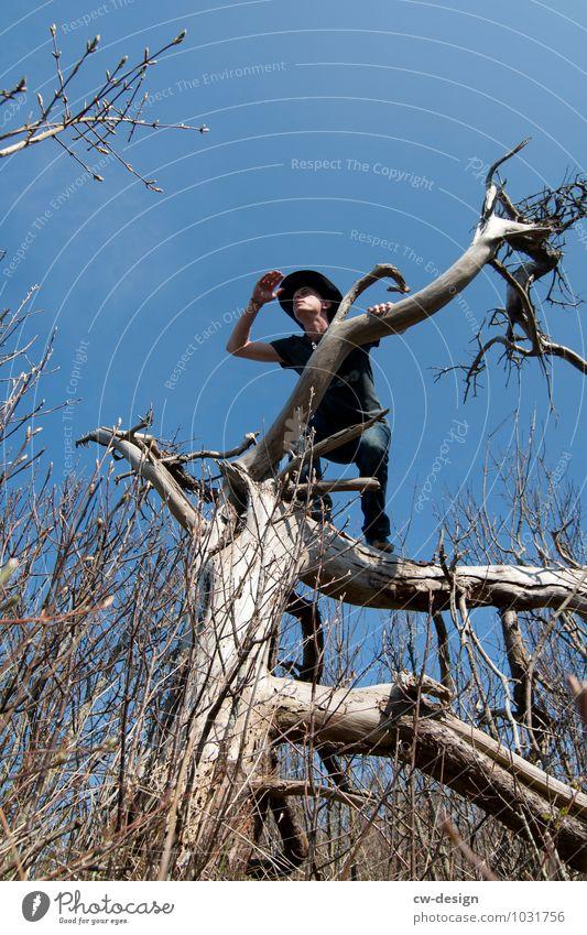 Gute Aussichten Freude Freizeit & Hobby Jagd Ausflug Abenteuer Ferne Freiheit Safari Expedition Berge u. Gebirge wandern Mensch maskulin Junger Mann Jugendliche