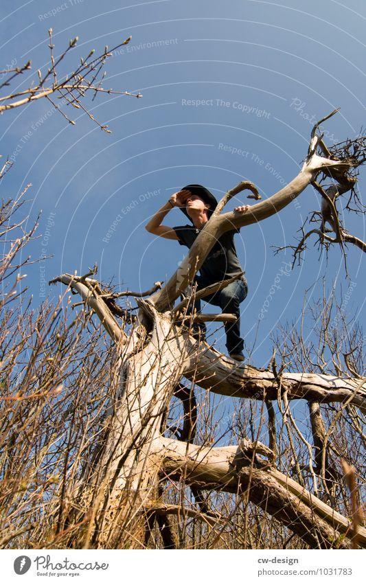 Mann genießt die Aussicht Leben Freizeit & Hobby Jagd Ferien & Urlaub & Reisen Tourismus Ausflug Abenteuer Ferne Freiheit Safari Expedition Sommerurlaub wandern