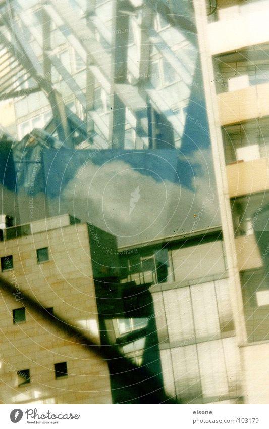 DM-experiment unverstanden außergewöhnlich durcheinander stark träumen 3 Plattenbau Reflexion & Spiegelung Dresden drücken Kunst Kunsthandwerk modern kaos
