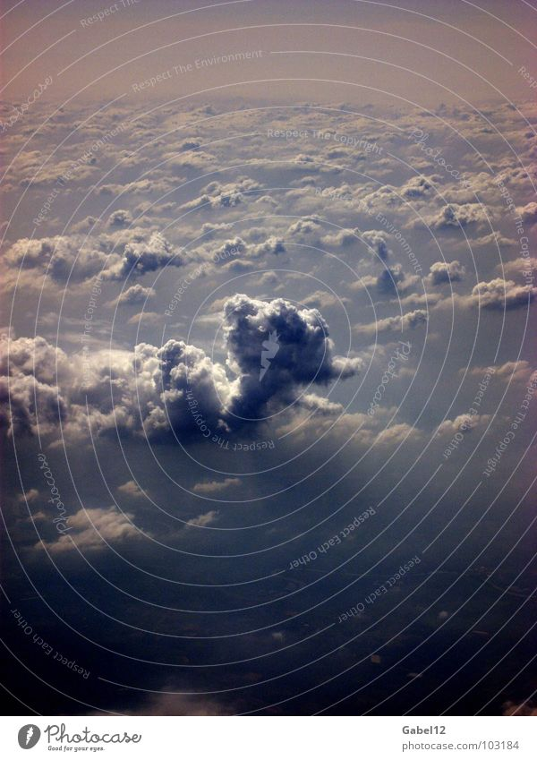 Wolkensäule Himmel dunkel Gewitter