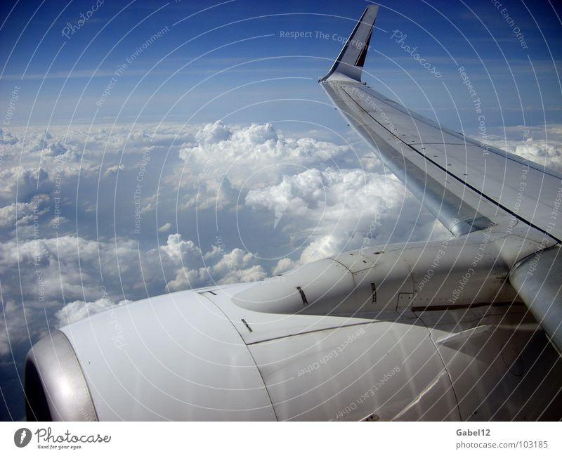 Flugobjekt Flugzeug Wolken Umweltverschmutzung Fluggerät Luftverkehr Himmel Stimmung Tragflügel