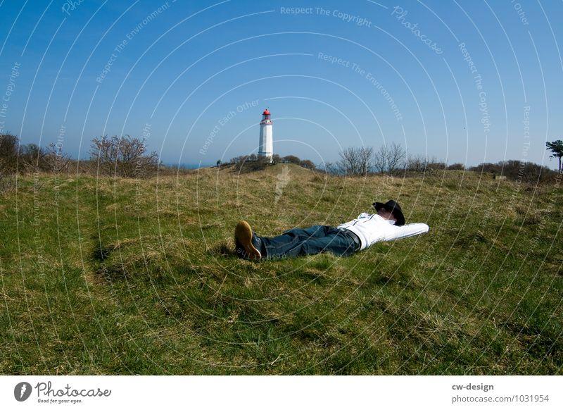 900th - Chillen auf der Insel Mensch Ferien & Urlaub & Reisen Jugendliche Mann Sommer Meer ruhig Freude Junger Mann 18-30 Jahre Erwachsene Leben Wiese Glück
