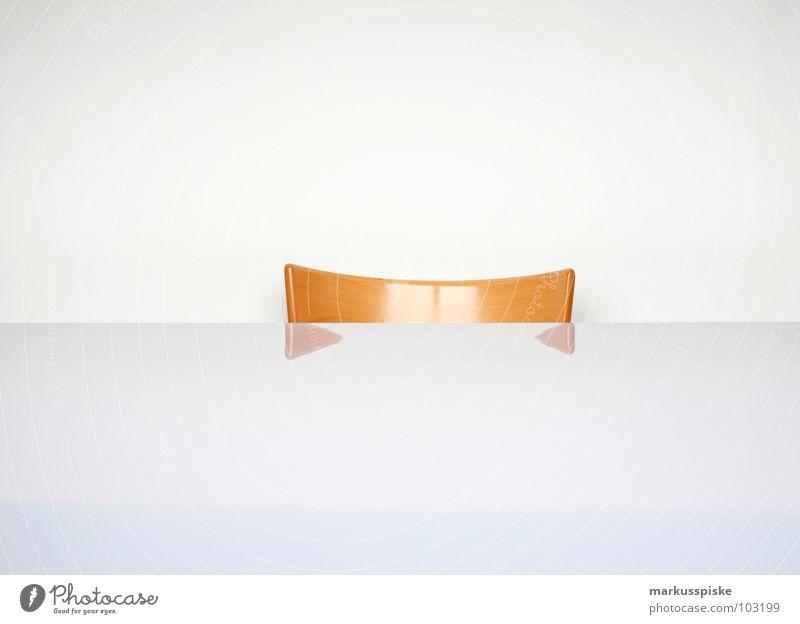 weissraum schön weiß Raum Tisch Stuhl Häusliches Leben Innenarchitektur Möbel sehr wenige minimalistisch puristisch