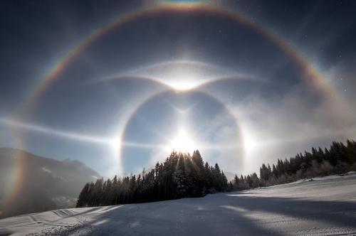 Kraft | der Phänomene Himmel Natur Landschaft Winter Wald kalt außergewöhnlich Eis leuchten elegant Schönes Wetter einzigartig Hoffnung Frost Sehnsucht