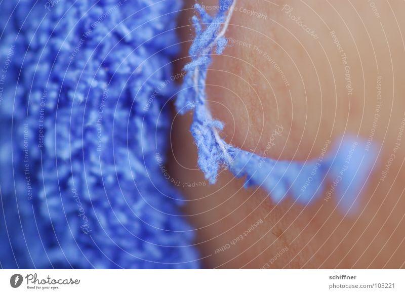 Fadenflucht blau Haut weich Strümpfe Wohlgefühl Nähgarn