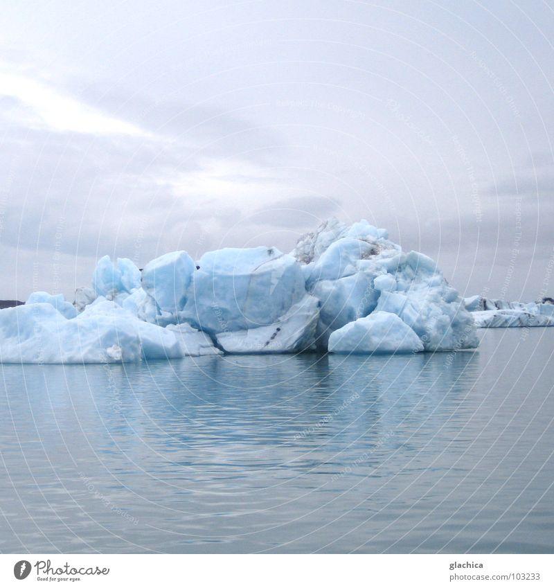Eis:::ewig? Natur Wasser schön Himmel weiß Meer blau Sommer Winter Strand Ferien & Urlaub & Reisen ruhig Wolken Ferne kalt Berge u. Gebirge